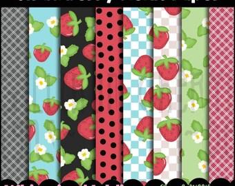 Strawberry Fields Scrapbook Paper