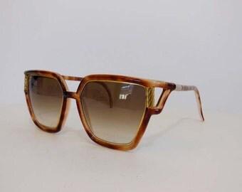 80s sunglasses / Vintage 1980's Ted Lapidus Oversized Eyeglasses Sunglasses