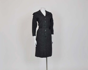 1950s dress / Pinstriped Vintage 50's Pin Up Sailor Dress