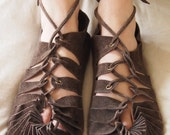 moccassins suede medieval shoes celtic pixie moccassins tribal shoes leather sandals lace up sandals leather moccassins