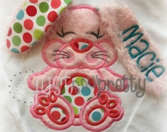 3D Flopsy Bunny Easter Embroidery Applique Design