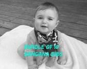 Baby Bandana Bibs Bundle of 10  Cotton Teething Bibs Baby Bandit Bibs