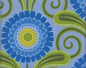 Free Spirit Sweet Lady Jane PWJS 049 PERWI Large Blue Flowers By The Yard