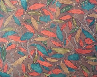 Kimono Silk Fabric Autumn Leaves