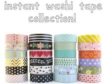 Washi Tape Set - 40 Mixed Rolls - Random Selection - Wholesale Washi Tape Rolls - Bulk Washi Tape - Washi Tape Pack - Masking Tape Set