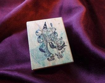 Vintage PSX Wizard Warlock Sorcerer Fantasy Crystal Ball Rubber Stamp