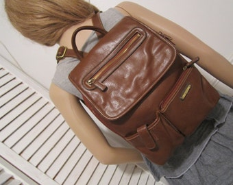 Vintage Backpack in Brown Color  Non Leather  Brown Backpack