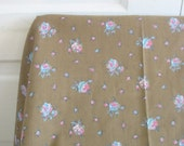 Vintage Fabric Yardage Supply Spring Cotton Flowers Pink Brown Blue Shabby Cottage Chic