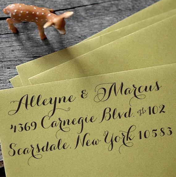 Self Inking Address Stamp - Calligraphy Stamp - wedding personal housewarming gift - 1005
