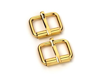 """10pcs - 5/8"""" Roller Pin Belt Buckles - Gold - Free Shipping (ROLLER BUCKLE RBK-105)"""