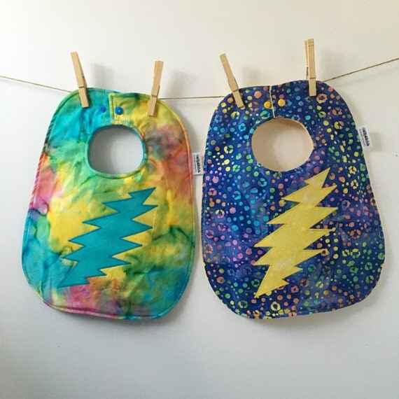 Tie Dyed Baby Gift Grateful Dead Baby Bib 13 Point