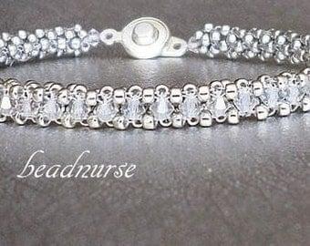 crystal beaded jewelry sterling silver beadwork bead bracelet swarovski crystal bracelet