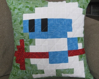 Dig Dug Quilted Pillow Cover - Free USA Shipping