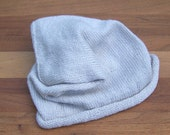 Slouchy Hat - Bad Hair Day Beanie - Knit Cap - Color Cream
