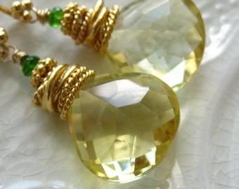 Lemon Quartz Earrings-Statement Earrings