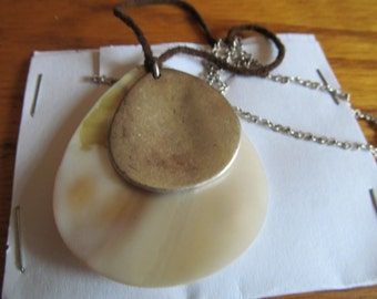 tear drop  shell pendent