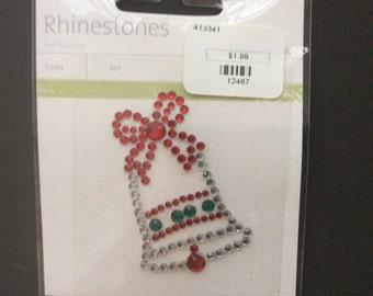 Kaiserscrapbook rhinestone bell mixed