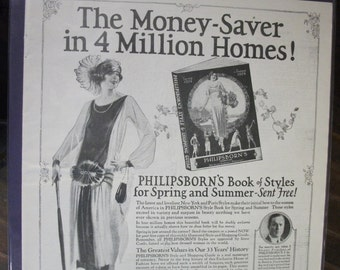 FAS-L 116  The Money-Saver ...Philipsborn's Shopping Guide Ad -  Feb. 1924
