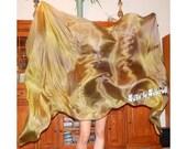 "Sahariah's Silk Belly Dance Veil Rectangle original ""Killer Silk"" PETITE Rectangle Veil PLEASE READ"