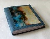 after the storm journal -  waxed blue canvas mid size travel journal