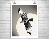 Hawk Bird Print, Vertical Art, Hawk Picture, Bird Art, Hawk Photograph, Wildlife Art, Hawk Art, Bird in Flight, Bird Photography