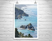 California Coast, Fine Art Photography, Big Sur, Ocean, Black and White, Seaside, Seascape, Vertical Art, California Art, Large Art