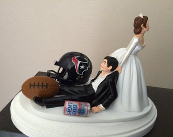 nfl wedding cake toppers nfl cake topper etsy 17840