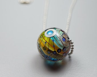 Murano Glass Jewelry // Lampwork Bead // Murano Glass // Rainbow Marble