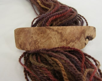 Medium Wooden Barrette, birdseye maple burl, wearable art, lifetime guarantee, NO GLUE, long thick natural hair accessory, french barrette