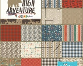 High Adventure 5 inch Stacker Charm Pack COMPLETE Bundle (18) Design By Dani Mogstad -  Riley Blake Fabrics