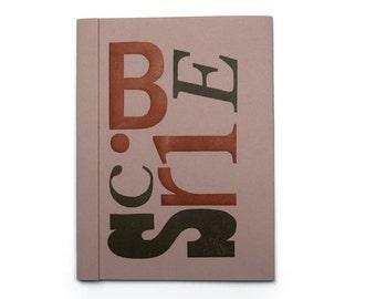Letterpress Scribe Notebook