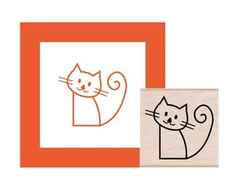 Kitty Cat Rubber Stamp
