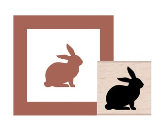 Woodland Bunny Rubber Stamp