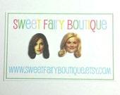 Tina Fey and Amy Poehler stud earrings