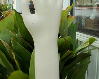 Vintage Porcelain Glove Mold Industrial Glove Mold Porcelain Hand Oddities Boho Chic Decor Palmistry