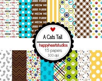 Digital Scrapbook  ACatsTail-INSTANT DOWNLOAD