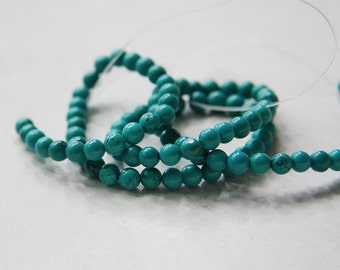 One Strand (15.5 Inches) Turquoise Stone - Round 4mm (67)