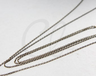 3 Feet Antique Brass Rectangle Cable Link Chain-1.4x0.9mm (225S4DC)