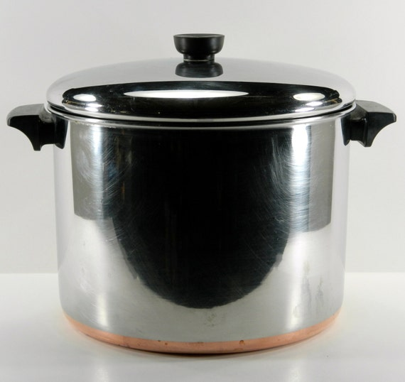 revere ware copper bottom stainless steel 10 qt stock pot with. Black Bedroom Furniture Sets. Home Design Ideas