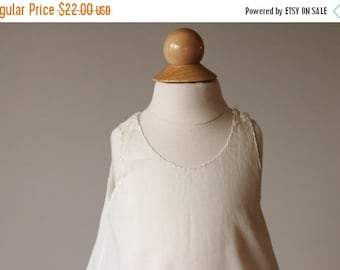 ON SALE 1940s Batiste Heirloom Slip Dress~Size 3 months
