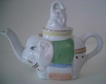 Vintage Small Elephant Teapot Pier 1