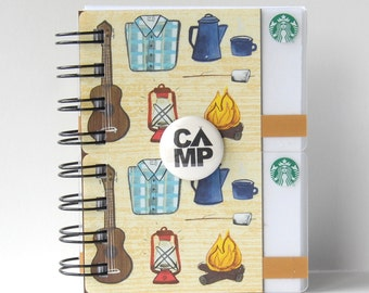 STARBUCKS Notebook - Large Size - Gift Card Covers front and back