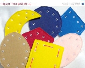 SALE Lacing shape cards sewing cards Create your own set, buy one, several or the complete set