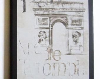 Paris Arc de Triomphe wall decor plaque French style picture