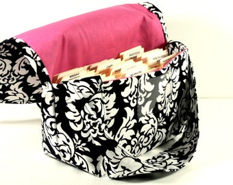 Coupon Organizer, Mega Large, Coupon Holder, Coupon Bag, Coupon Binder, Damask Fabric