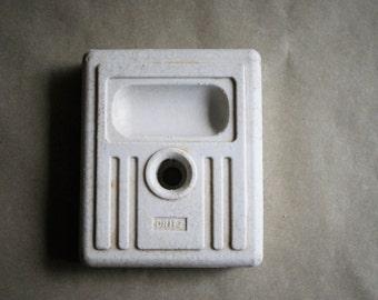Vintage Dritz Skirt Marker Base Pin or Chalk Holder White Porcelain
