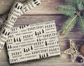 Merry Christmas Trees Holiday Gift Wrap