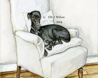 Whippet Dog Art Print