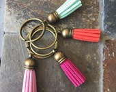 Petite Tassel key chain -- choice of color
