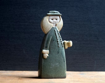 Alfred Knobler Pottery Girl Taper Candle Holder, Japanese Stoneware, Dried Flower Posy Holder